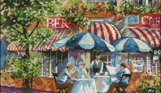 Street Cafe-cross-stitch design
