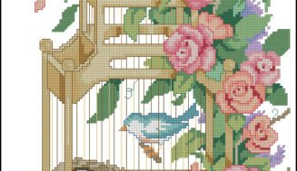 Morning birds-cross-stitch design